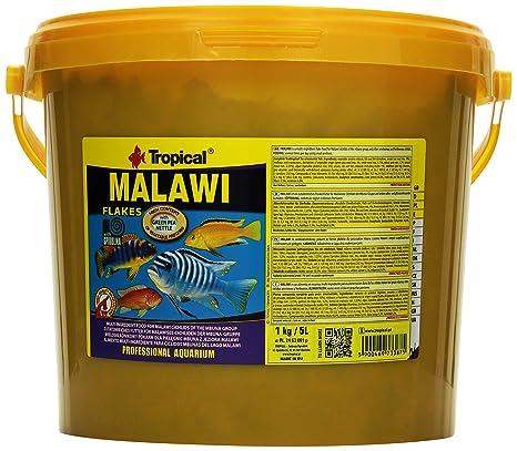 Tropical Malawi - Comida para peces en copos, especial para peces tropicales cíclidos de Malaui, ...