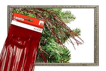 * Lametta Folien Lametta metallisch glänzend Baumschmuck Baumbehang (rot)