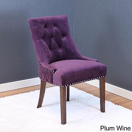 cheaper 24ccb 0c08b Amazon.com - Monsoon Lemele Tufted Velvet Dining Chairs (Set ...