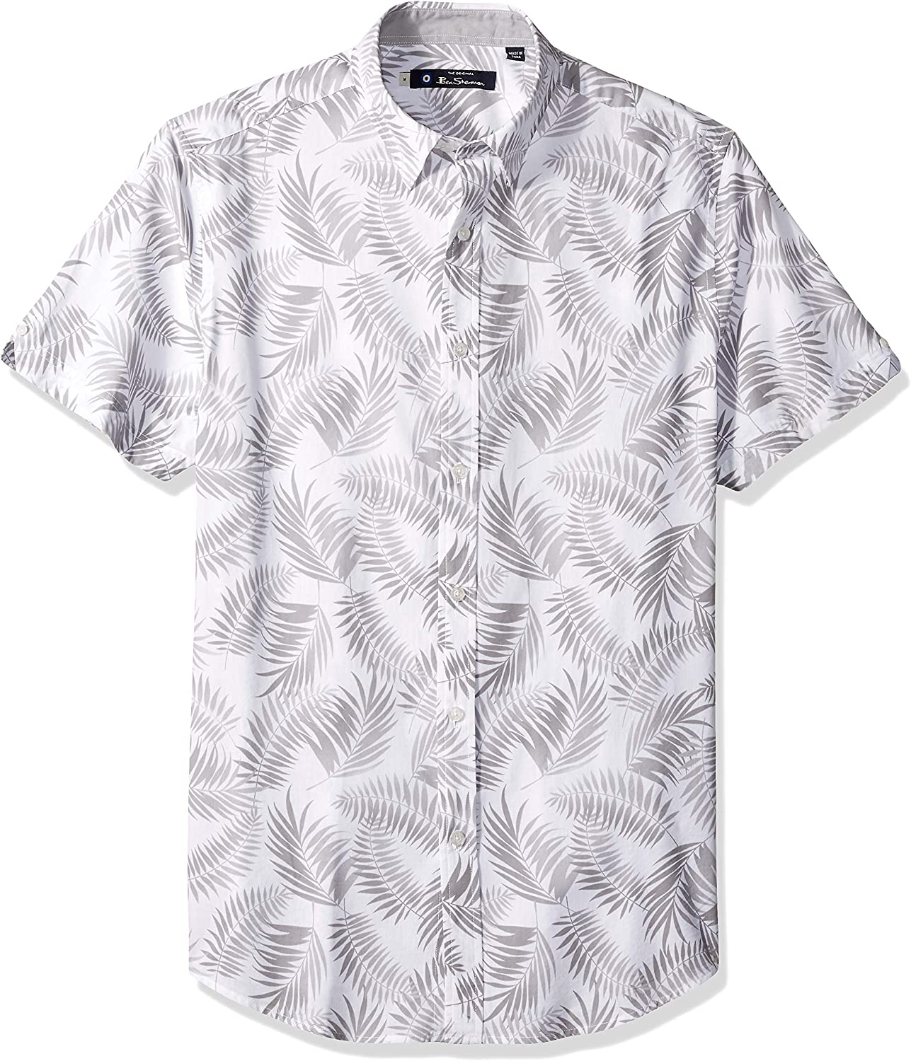 Ben Sherman Ss Shadow Leaf - Camiseta para hombre - Blanco - Large: Amazon.es: Ropa y accesorios