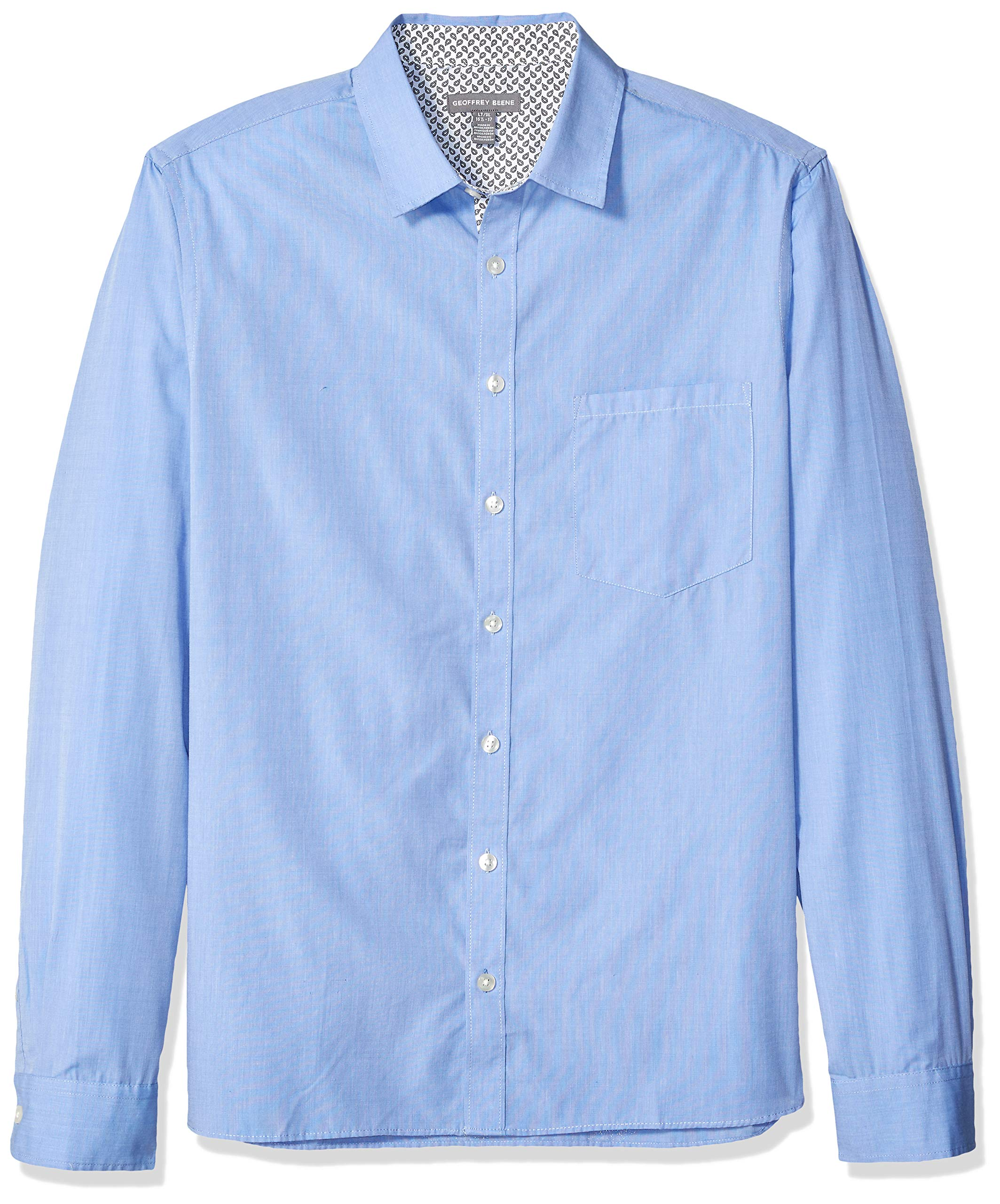 Geoffrey Beene Mens Big and Tall Easy Care Long Sleeve Button Down Shirt