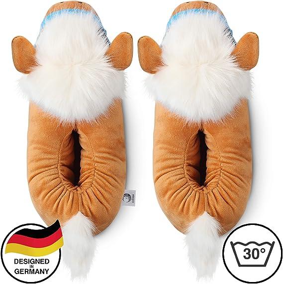 corimori Zapatillas De Casa (10+ Modelos) Invierno Mujer Hombre Josy el Pony Talla 34/44 EU, Marrón Claro (1847)