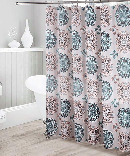 72x72/'/' Art Deco Vintage Frames Bathroom Fabric Shower Curtain Mildew 12 Hooks