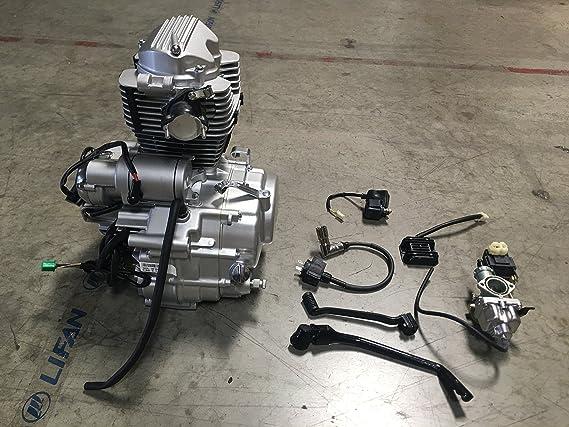 lifan new ~ 4-stroke 200cc dirt-bike atv go-kart motorcycle engine motor  163fml: amazon co uk: garden & outdoors