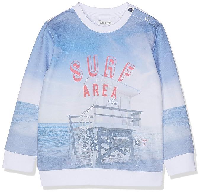 IKKS Junior Sweat Bleu Ciel Plage Et Surf, Sudadera para Niños, Azul 40,