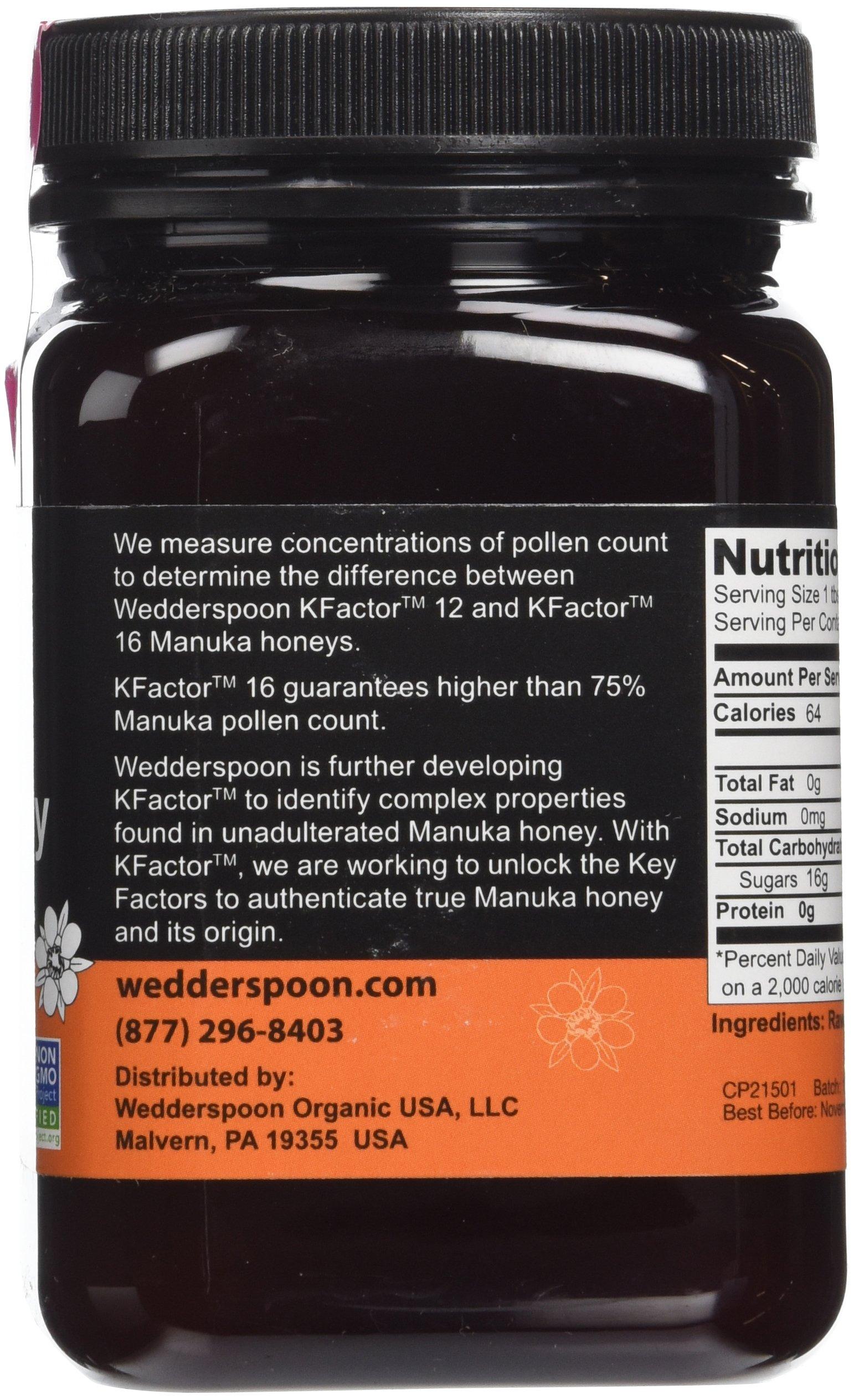 Wedderspoon Raw Manuka Honey Active 16+, 17.6-Ounce Jar (two pack)