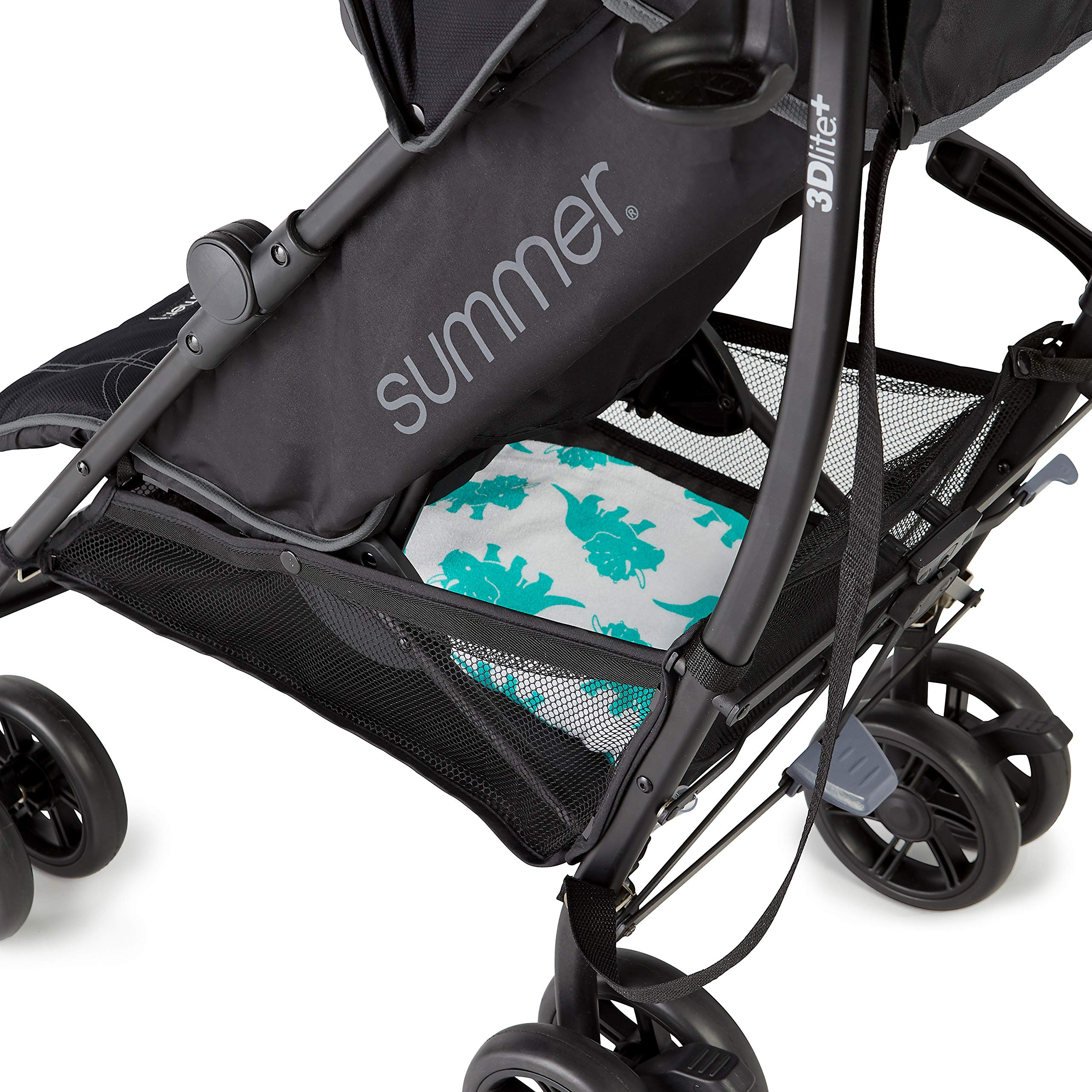 Summer 3Dlite+ Convenience Stroller, Matte Black - Lightweight Umbrella Stroller with Oversized Canopy, Extra-Large Storage and Compact Fold by Summer Infant (Image #7)