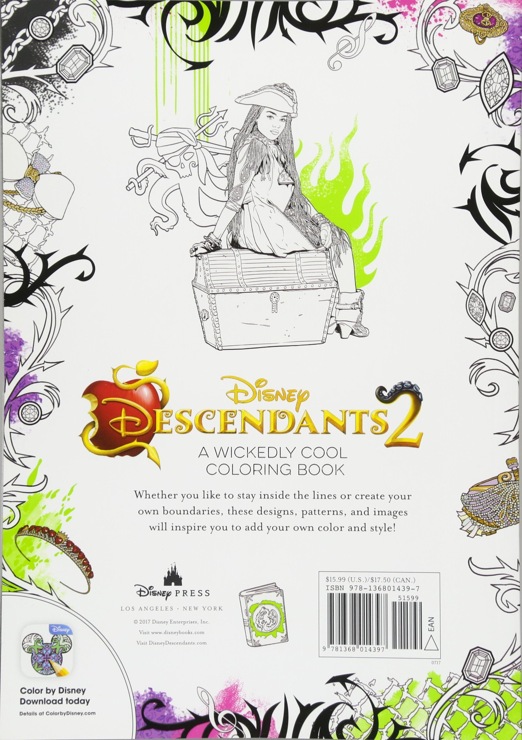 Descendants 2 A Wickedly Cool Coloring Book Art Of Coloring Amazon