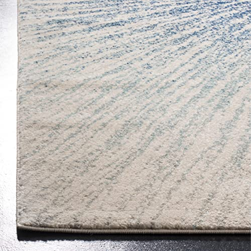 Safavieh Evoke Collection Contemporary Burst Royal Blue and Ivory Area Rug 3 x 5
