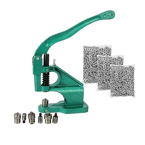 FreeTec Grommet Punch Machine 3 Die (6mm/10mm/12mm) Hand Eyelet