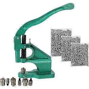 FreeTec Máquina de Ojal con 3 matrices y Juegos de 1500 Ojales, Ojal máquina de · 〉