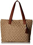 The Sak Unisex Fairmont Crochet Large Tote,  Bamboo Static, One Size
