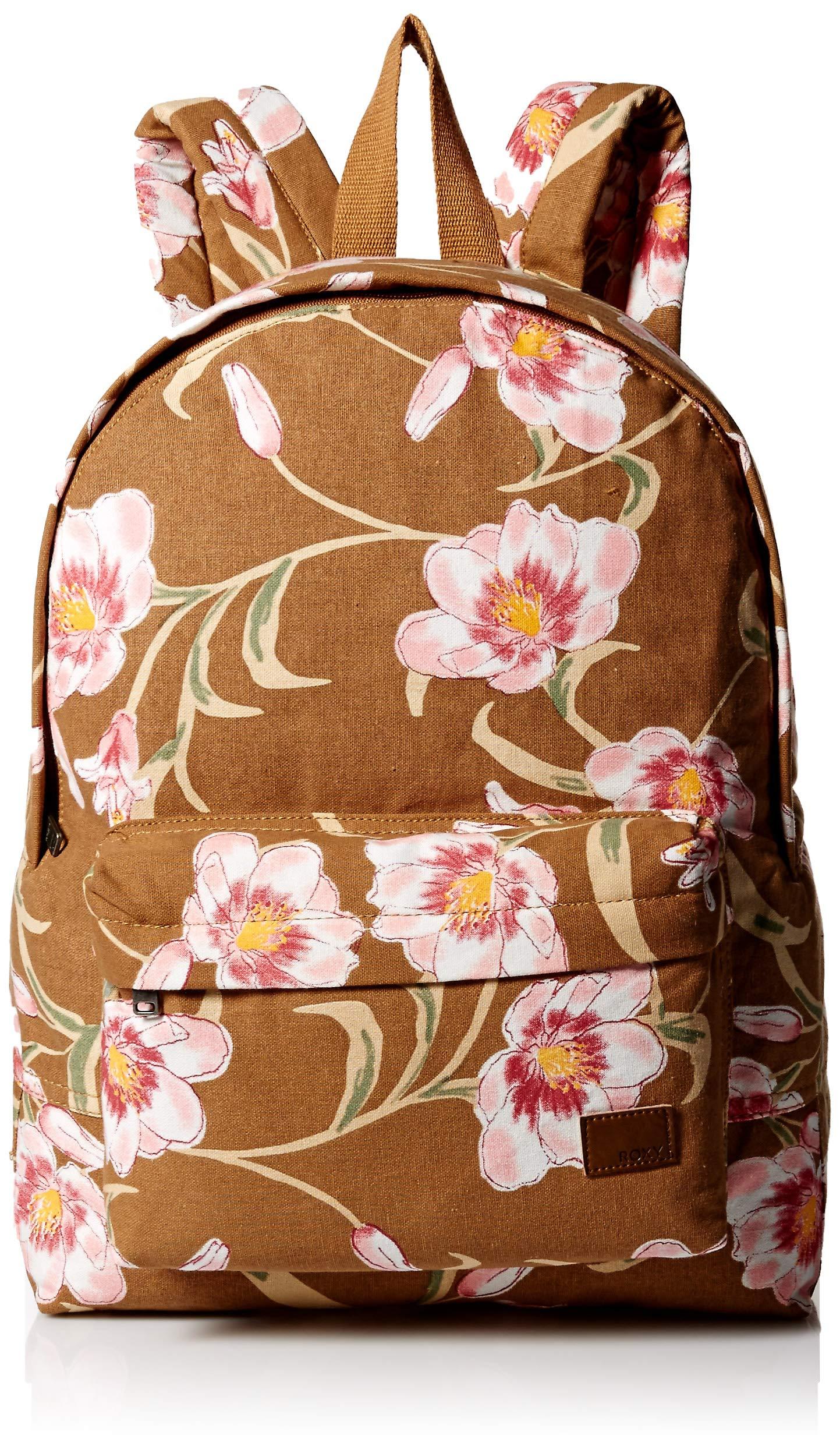 Roxy Women's Sugay Baby Canvas Backpack, chipmunk SURFIN love, 1SZ by Roxy