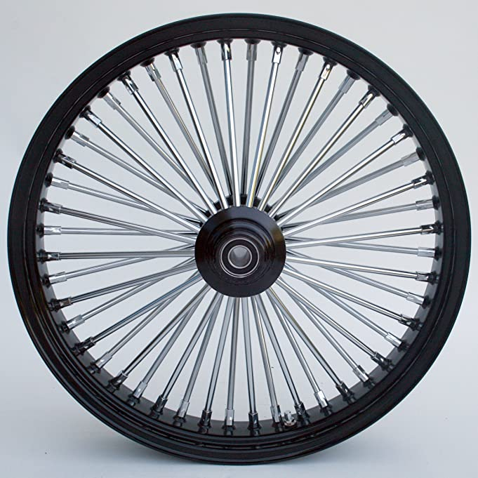 amazoncom ultima king spoke tubeless black front single disc wheel 21x35 for 00 harley automotive