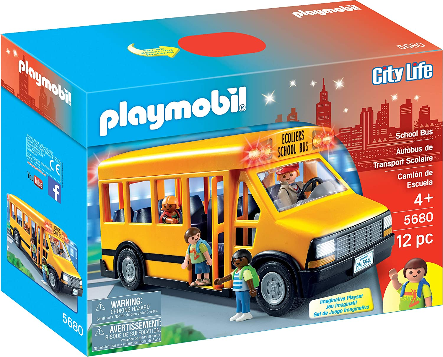 PLAYMOBIL School Bus Vehicle Playset