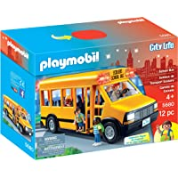 PLAYMOBIL 5680 School Bus Vehicle Playset, 12 Pieces