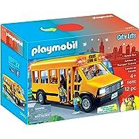 PLAYMOBIL School Bus Vehicle Playset, 12 Pieces