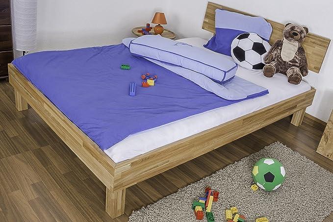 Estructura de Madera de Roble cama 120 x 200 cm barnizada: Amazon.es: Bricolaje y herramientas