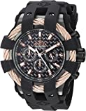 Invicta Men's 'Bolt' Quartz Stainless Steel and Silicone Casual Watch, Color:Black (Model: 23867)