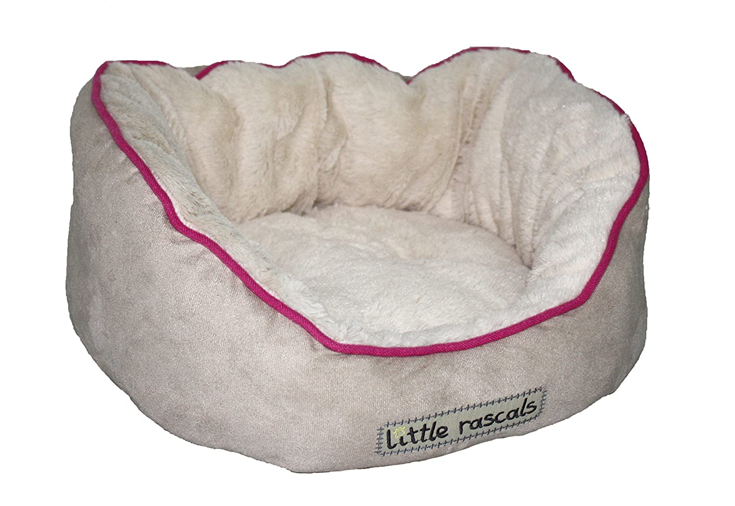 Little Rascals Night Night Oval Bed Beige 18