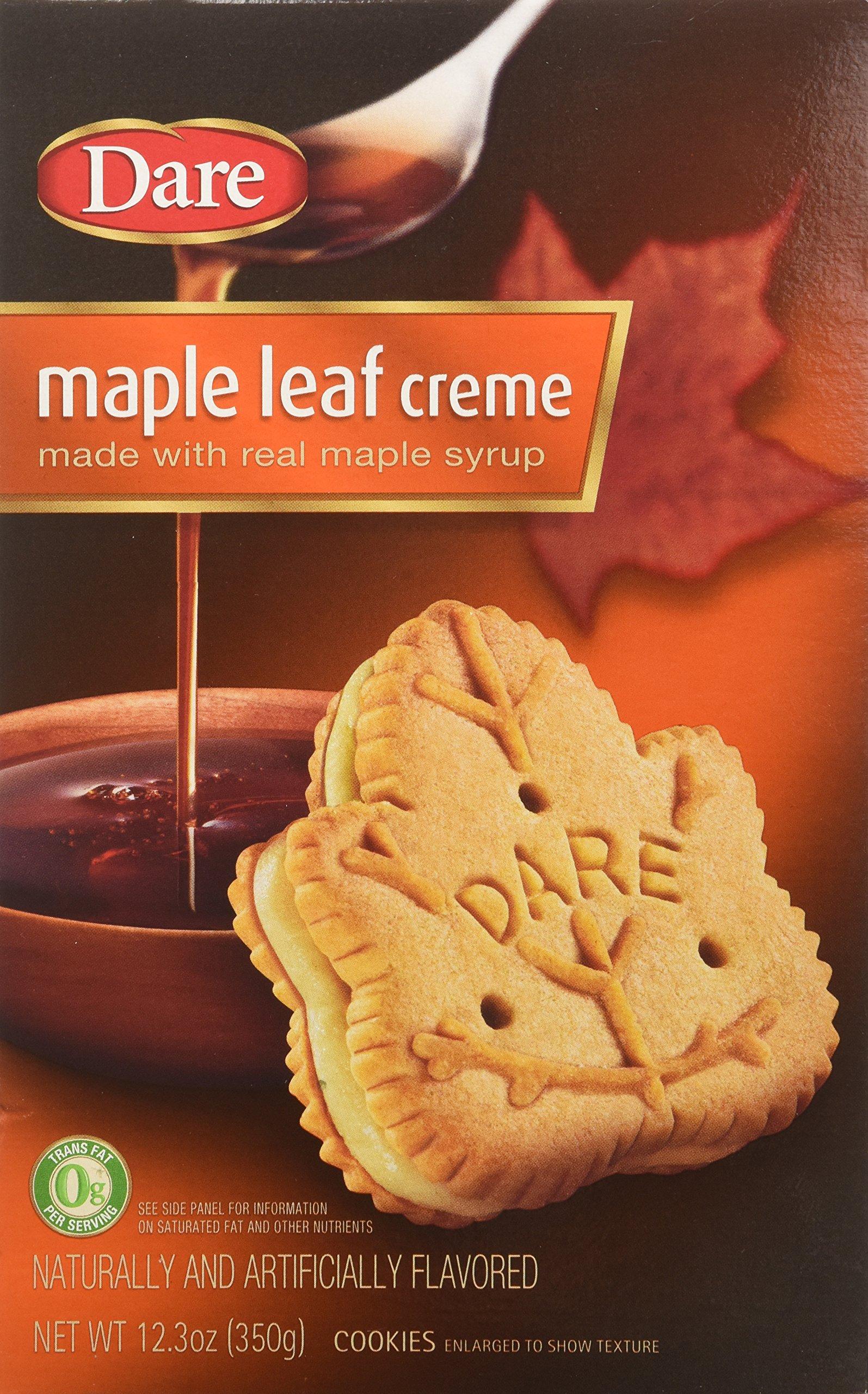 Dare Original Gourmet Maple Leaf Cream (Pack of 2) 12.3 oz Boxes