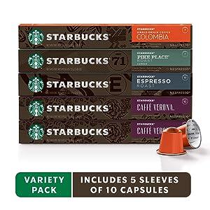 Starbucks for Nespresso Variety Pack, Intense, 50 Count