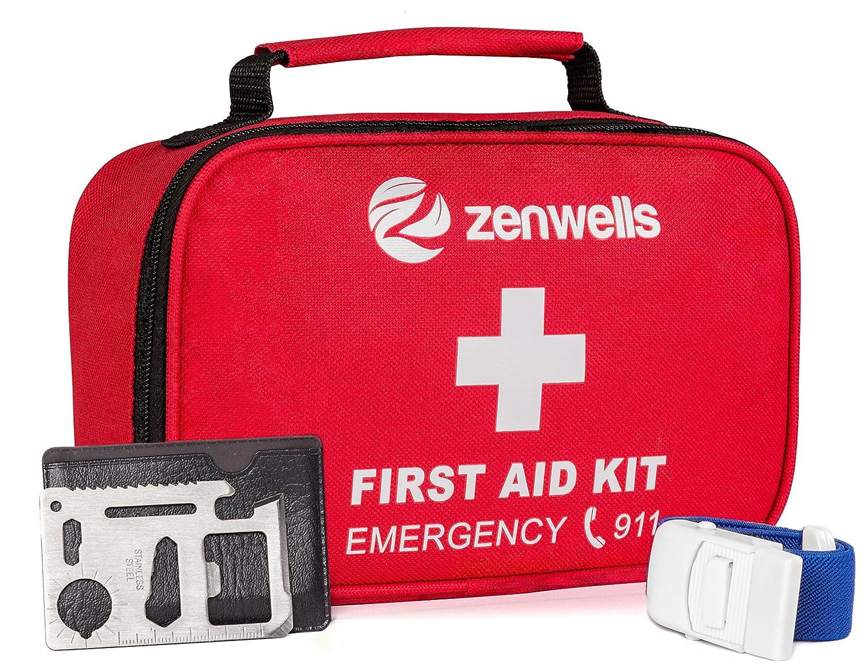 Amazon.com  First Aid Kit Trauma Bag  154 Pieces Medical Supplies for Car  Emergency 01a5f2c888751