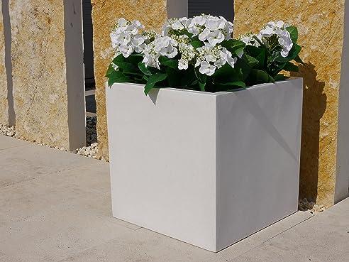 Pflanzkübel aus Fiberglas quadratisch, Blumenkübel, Pflanzgefäß ...