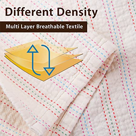 Soft Toddler Reversible Waffle Weaving Cotton Blanket Oversized 53 x 48inch Thick Soft Cozy Warm Breathable - Cuddle Sheet for Newborn Infant Baby Kids Pink /& SkyBlue Best Gift cocoLulu