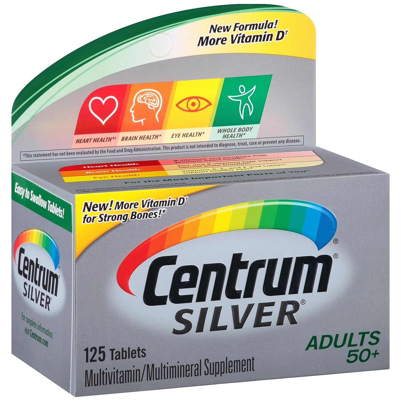 Centrum - 銀マルチビタミン/マルチ ミネラル大人 50 + - 125錠剤 B005JQTUWE