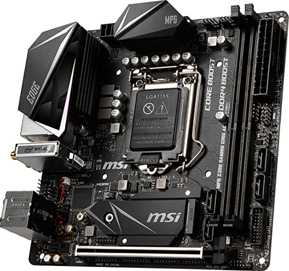 Amazon.com: MSI MPG Z390I Gaming Edge AC LGA1151 (Intel 8th and 9th Gen) M.2 USB 3.1 Gen 2 DDR4 HDMI DP Wi-Fi Mini ITX Z390 Gaming Motherboard: Computers & ...