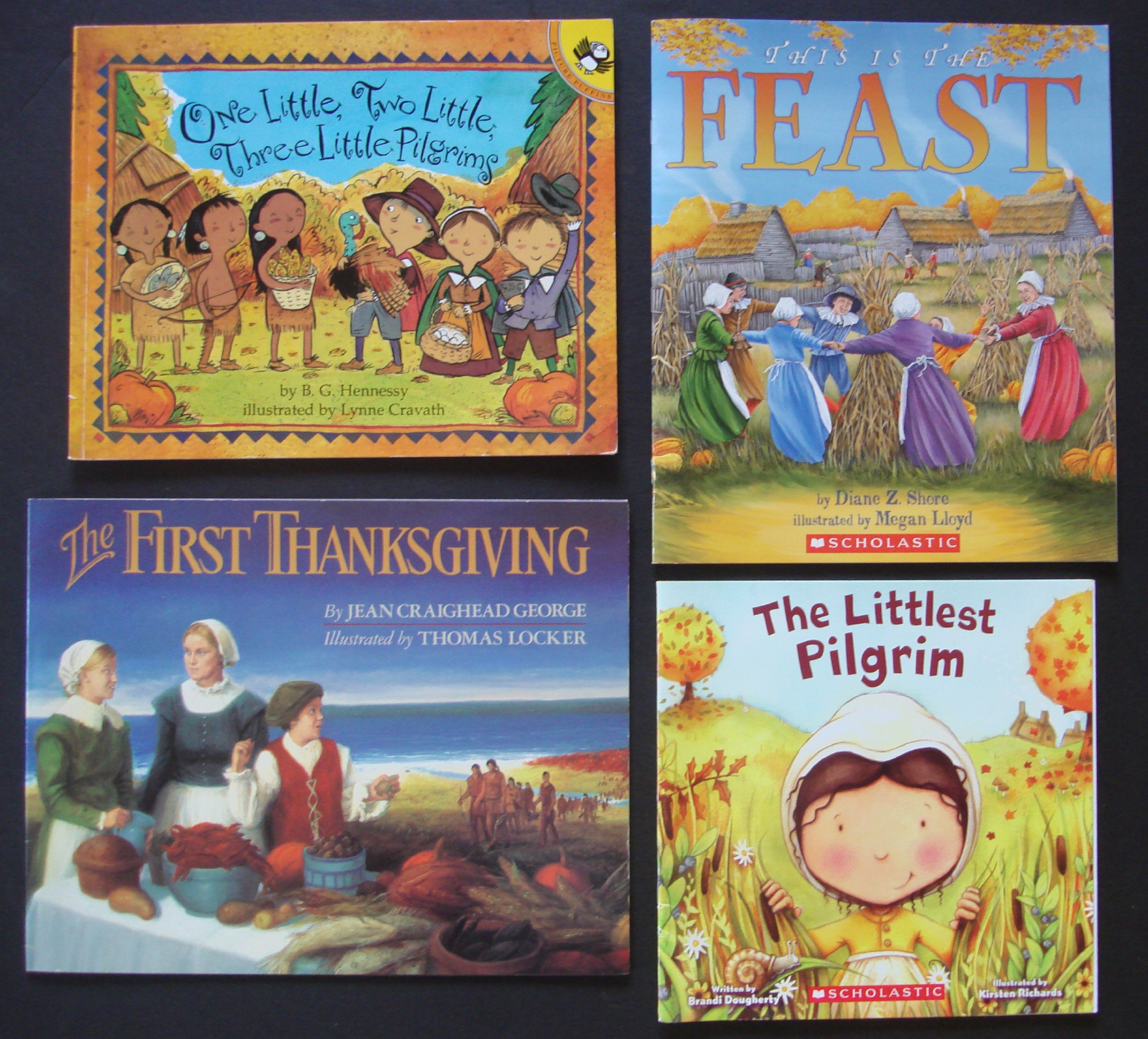 Thanksgiving Children's Picture Books: Set of 4 (The