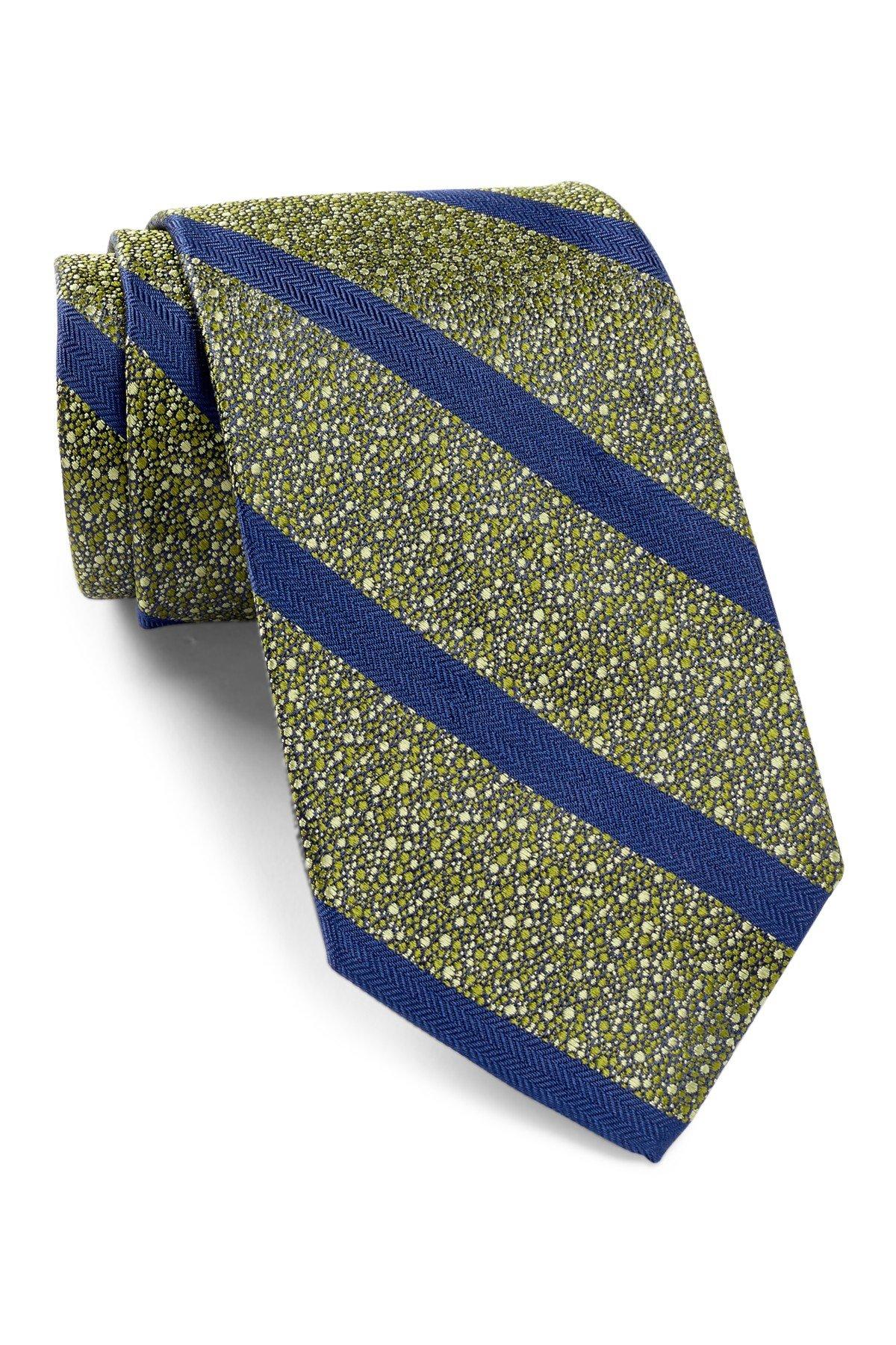 Robert Talbott Men's Best of Class Stripe Silk Tie, OS, Green
