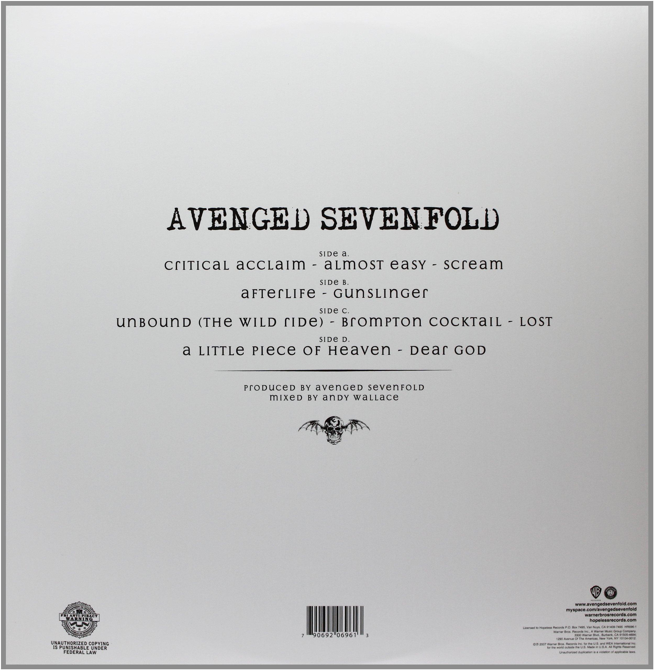 AVENGED SEVENFOLD [Vinyl]