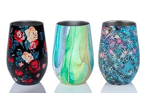 Amazon.com: DARI - Vaso de vino de acero inoxidable con ...