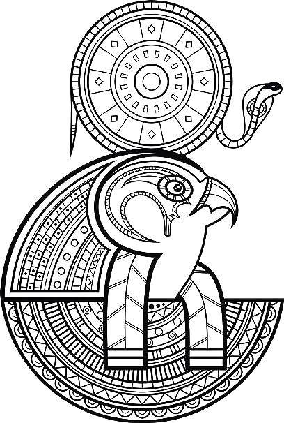 Amazon Com Tribal Pattern Egyptian Falcon God Horus Vinyl Decal