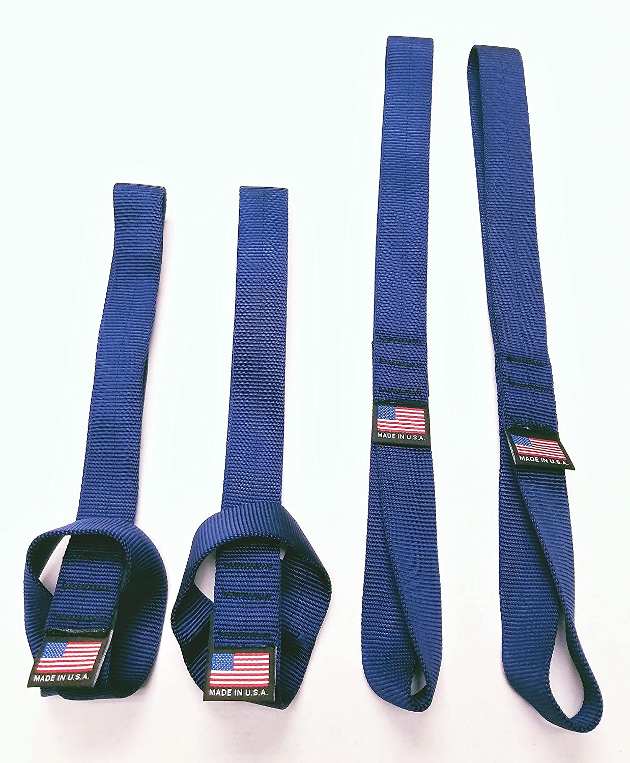 set of 4 - Blue Chase Harper USA Soft Hook Tie Down Extenders Chase Harper