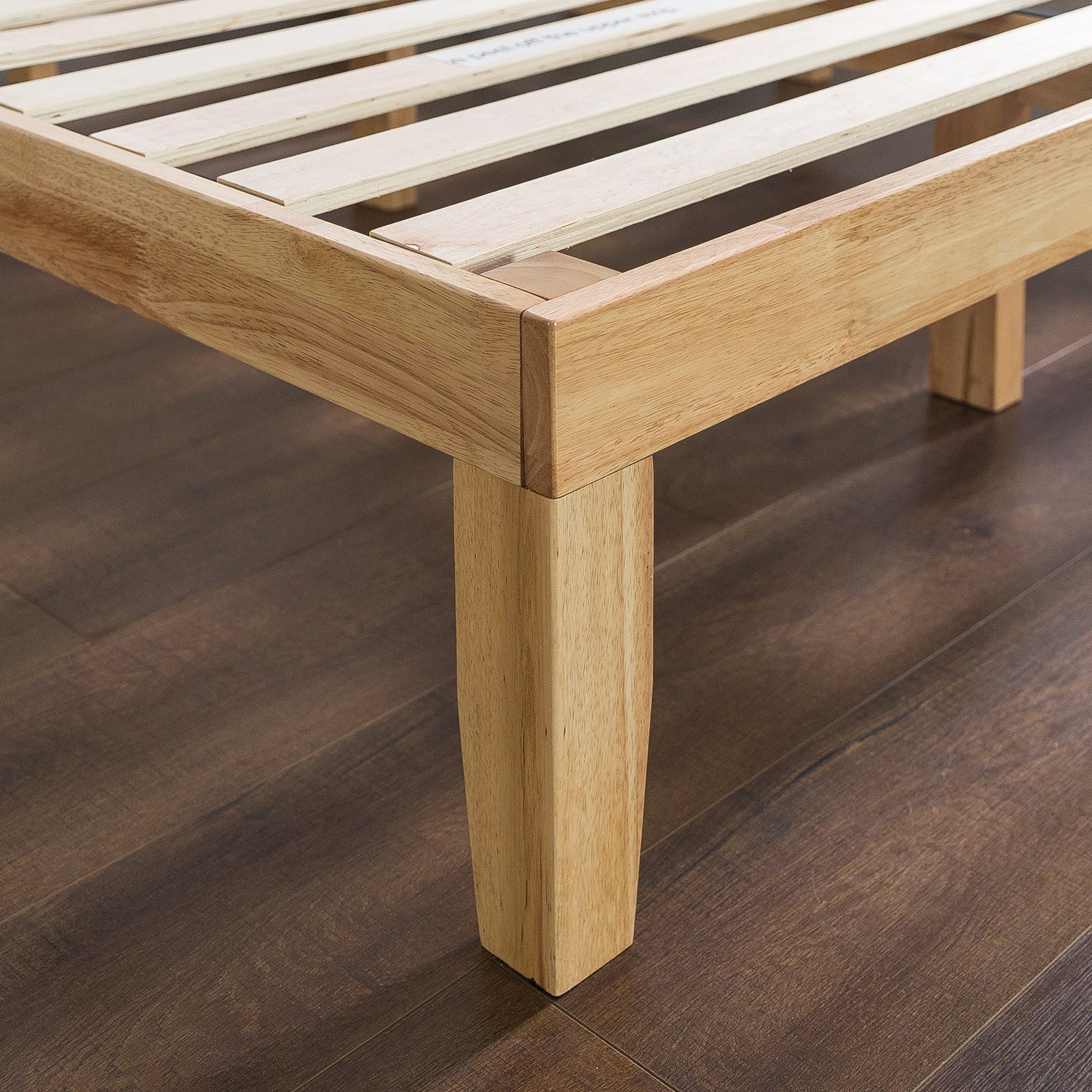 Zinus 14 Inch Wood Platform Bed / No Boxspring Needed / Wood Slat Support / Natural Finish, Twin by Zinus (Image #4)