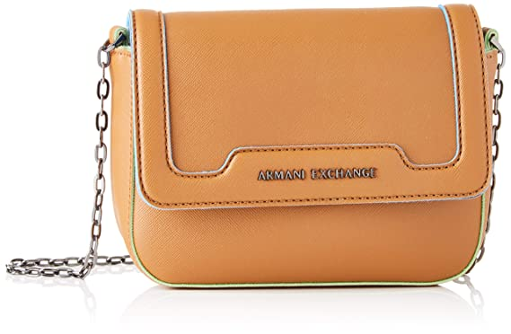13c20486f7 Amazon.com: A|X Armani Exchange Women's Big Crossbody Bag, cognac ...