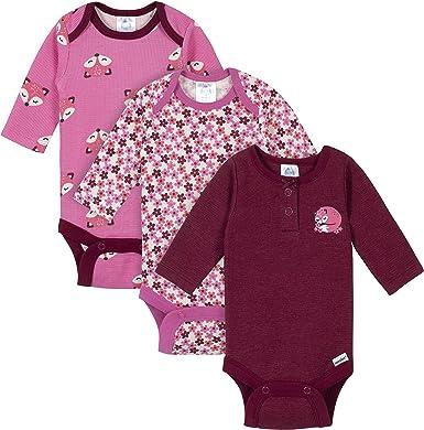 Gerber Baby Girls 3-Pack Long-Sleeve Onesies Bodysuit