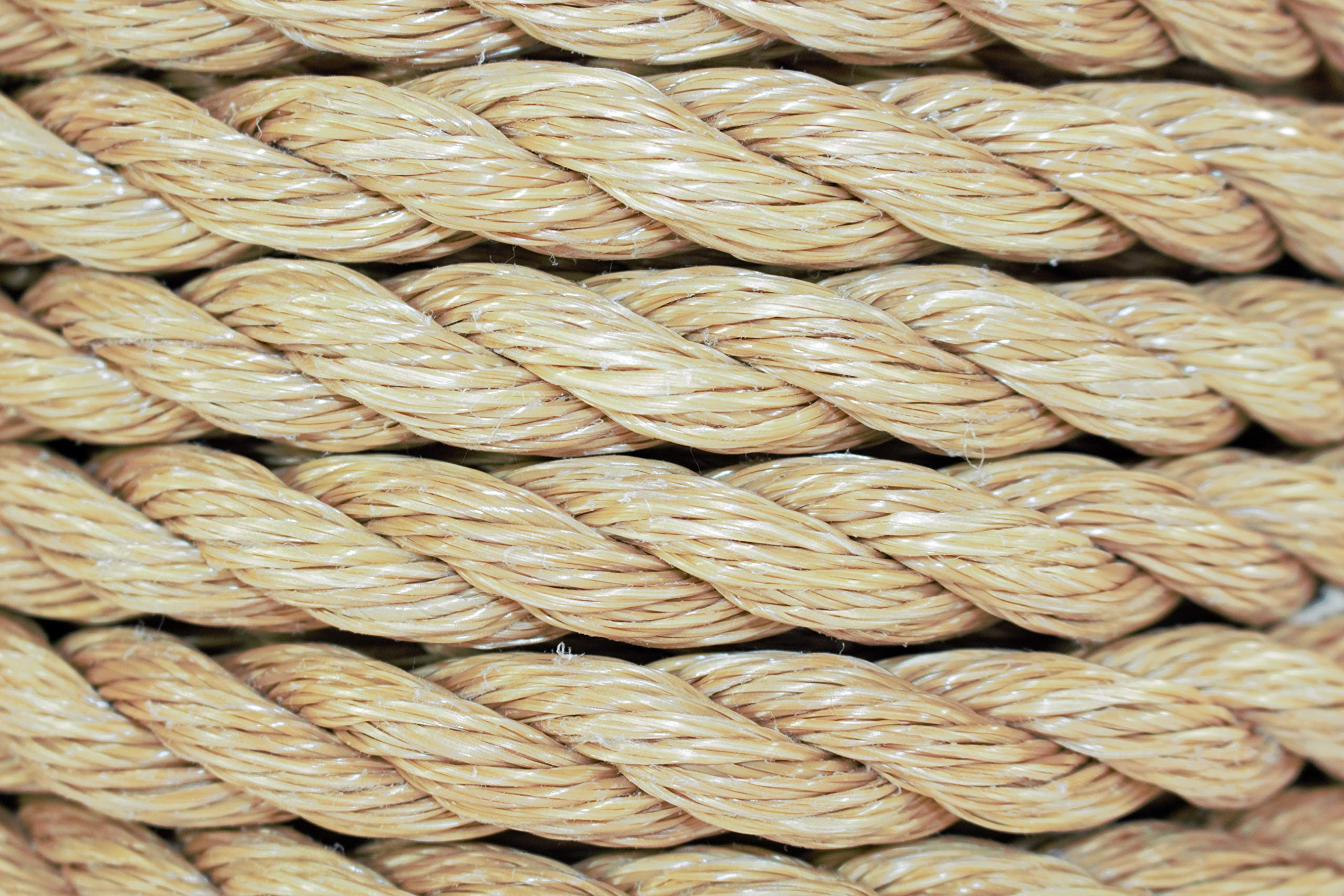 SGT KNOTS ProManila Rope (3/4 inch) UnManila Tan Twisted 3 Strand Polypropylene Cord - Moisture, UV, and Chemical Resistant - Marine, DIY Projects, Crafts, Commercial, Indoor/Outdoor (200 ft) by SGT KNOTS