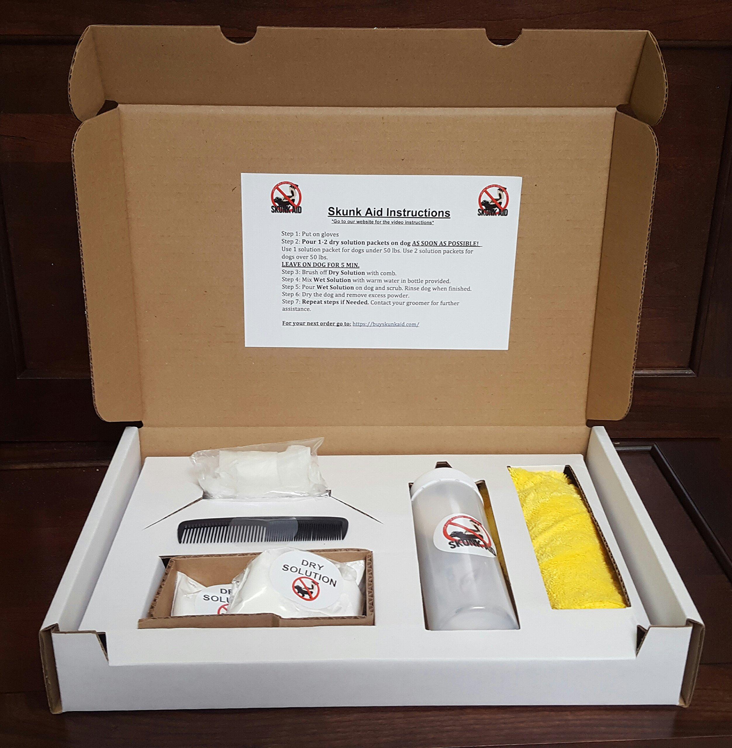 Skunk Aid, Natural Dog De-Skunking Kit