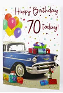 70th Happy Birthday Greeting Card For Him Mens Male Quality Age Milestone Verse