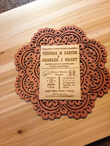 amazon com western theme wood laser engraved wedding invitations