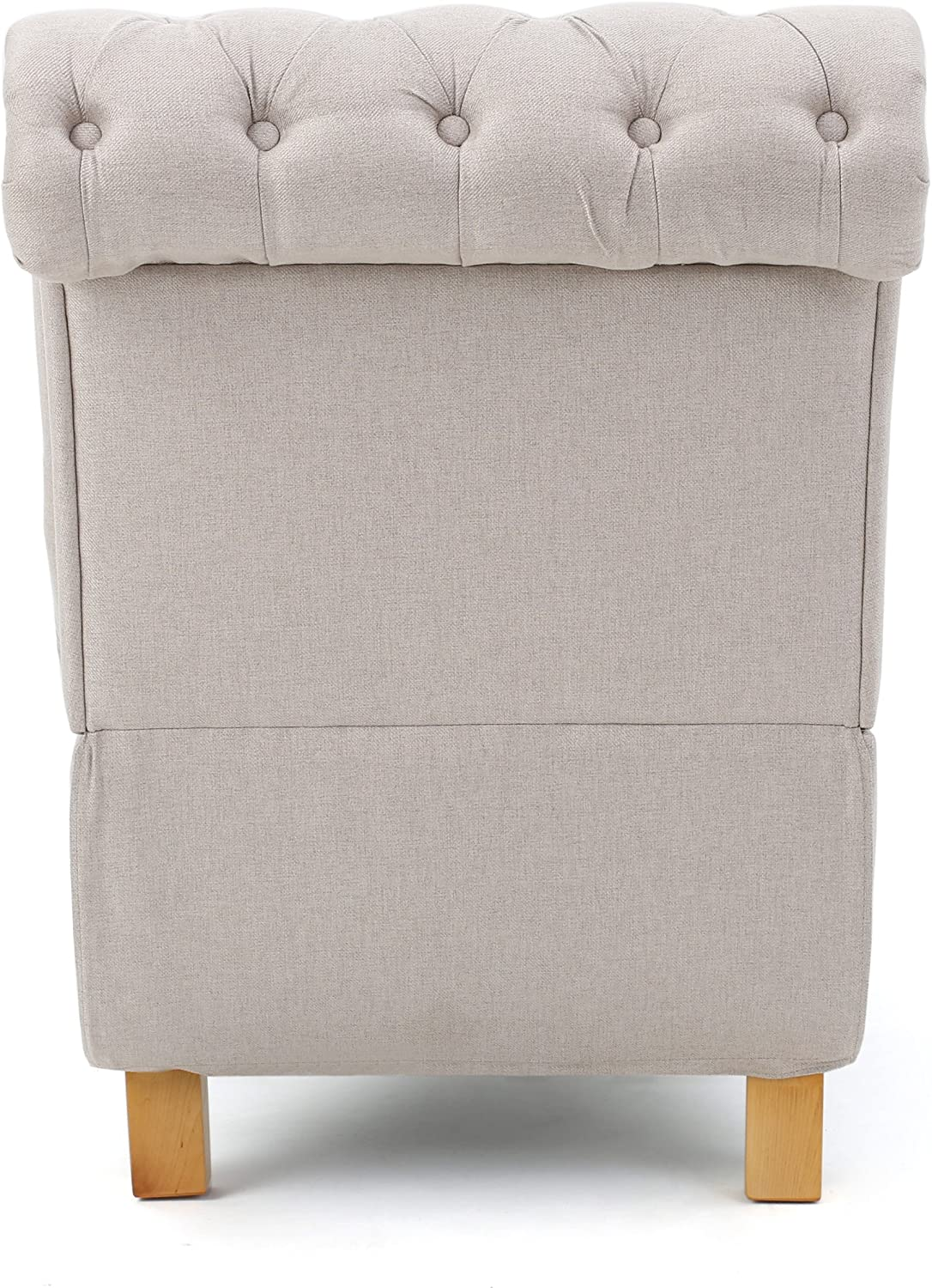 Christopher Knight Home Bellanca Fabric Tufted Chaise Lounge Chair Medium Beige