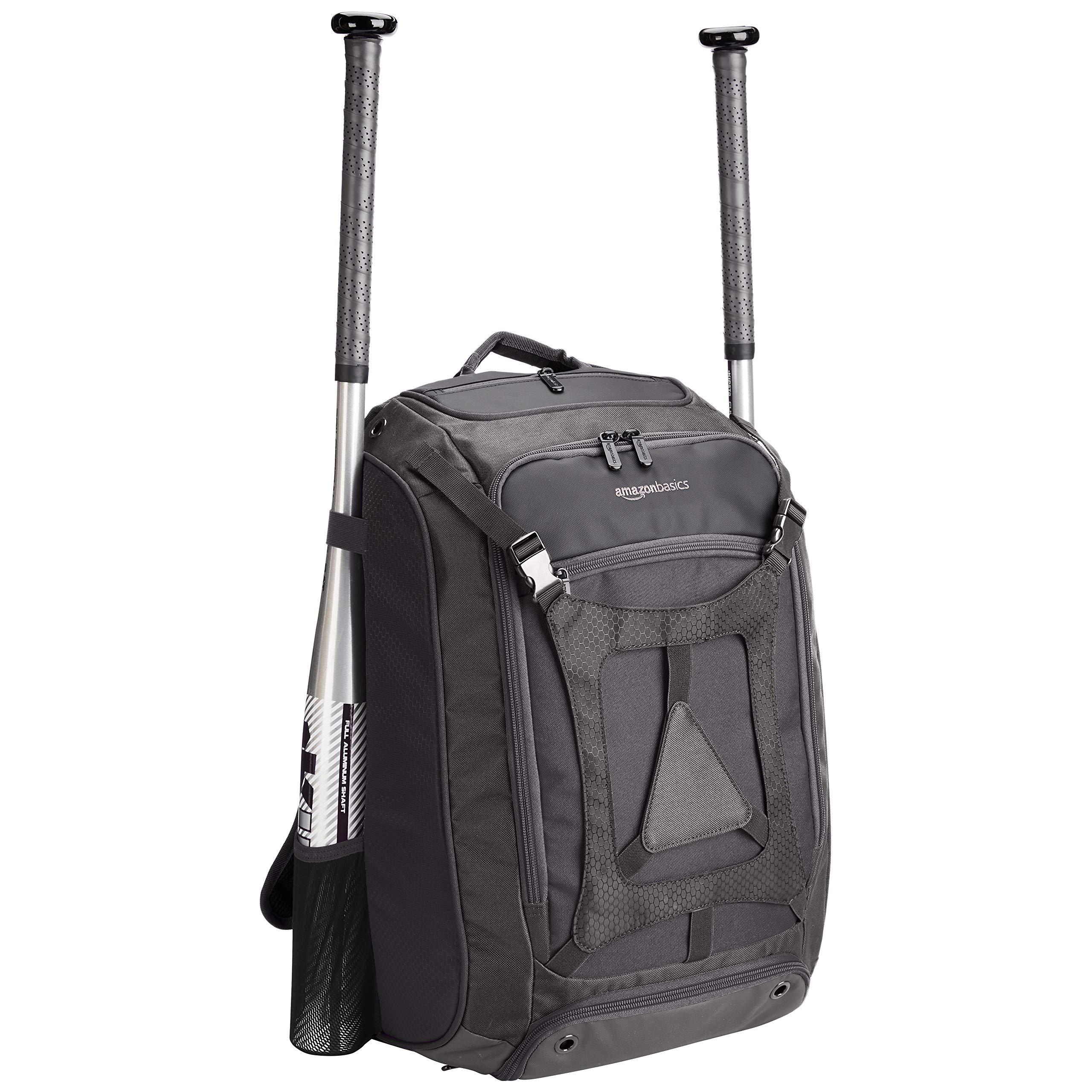 AmazonBasics Youth Baseball Equipment Backpack, Black by AmazonBasics (Image #2)