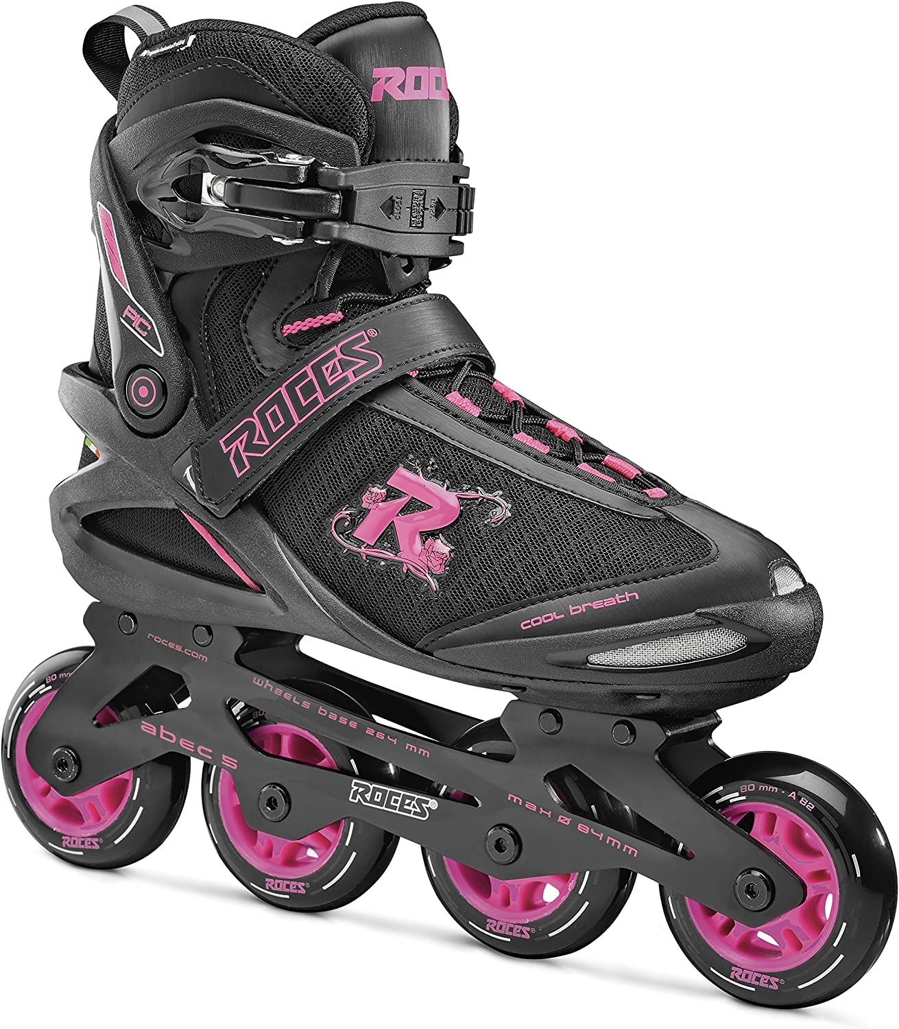 Inline Roller Skates Roces Womens PIC Inliner Comfortable Skates for Woman Adult