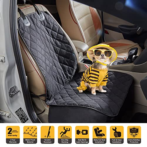Tech TradersR Waterproof Front Seat Cover For Dog Pet With Nonslip Rubber Backing