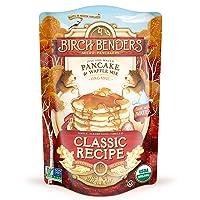 Organic Pancake and Waffle Mix, Classic Recipe by Birch Benders, Whole Grain, Non-GMO...