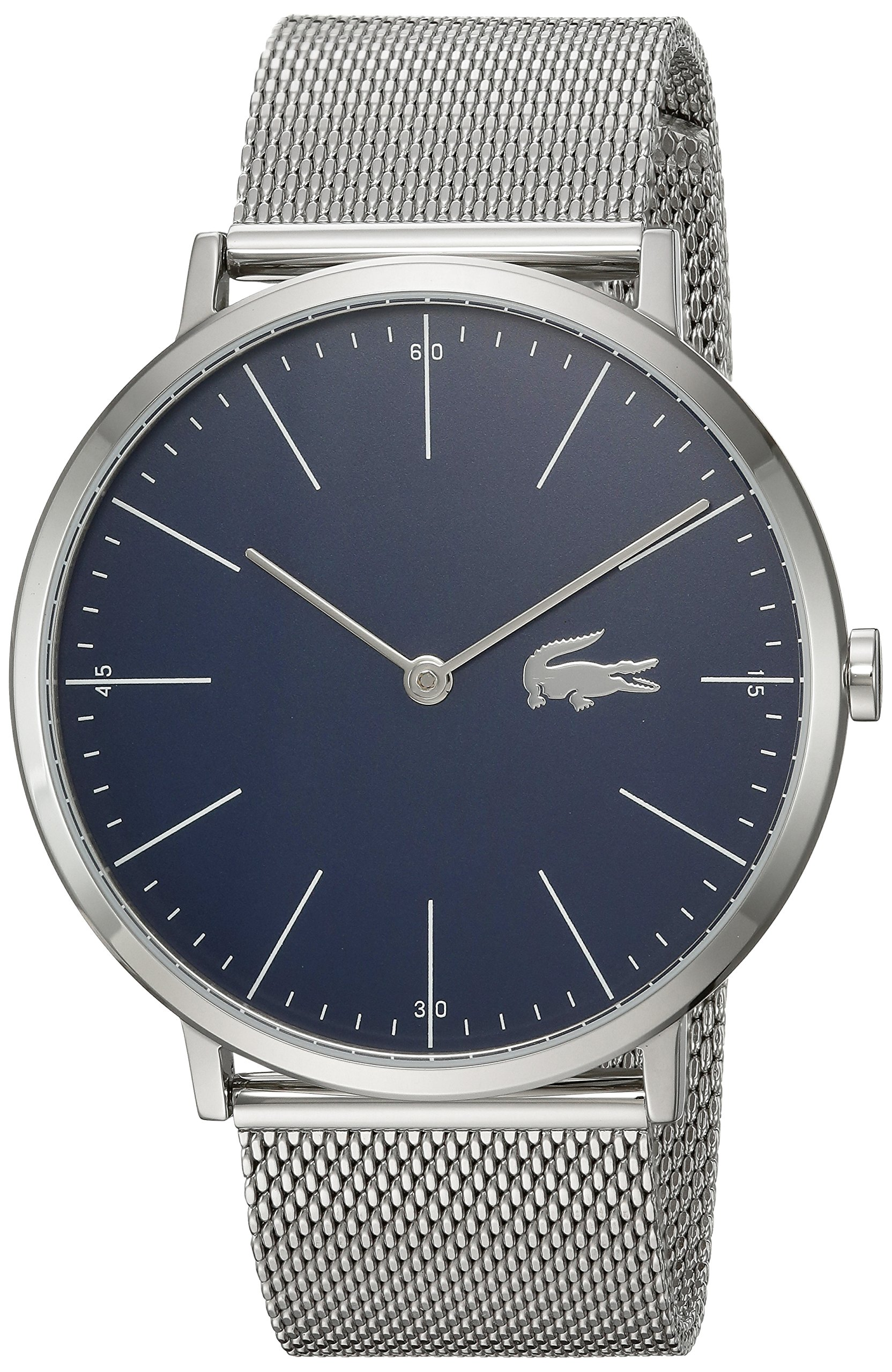 Lacoste Men's Moon Quartz Watch with Stainless-Steel Strap, Silver, 20 (Model: 2010900) by Lacoste